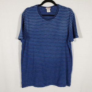Lucky Brand Striped Blue Tee•Size L•